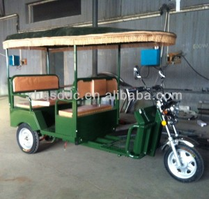 QS-D model powered battery rickshaw for passengers in India