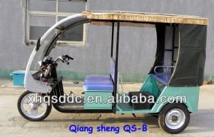 QS-B model hot sale three wheeler battery tricycle tuk tuk motorcycle
