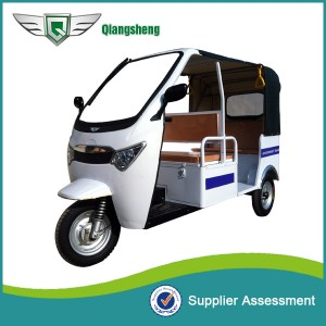 QS-A WHITE model Battery Rickshaw for passengers in India