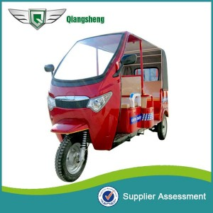 QS-A RED model Battery Rickshaw for passengers in India