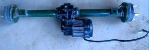 differential motor and controller for India model electric rickshaw