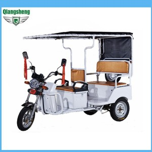 mini new model QS-Dmini 3 passenger electric rickshaw China battery operated e-rickshaw for sale