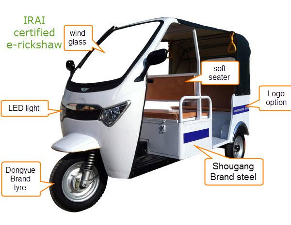 ARAI approved battery tuk tuk rickshaw passenger auto rickshaw
