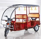 2016 hot-seller 4-6 passengers battery operated electric tricycle