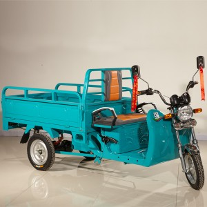 Icat certified battery operated three wheeler electric tricycle goods carrier