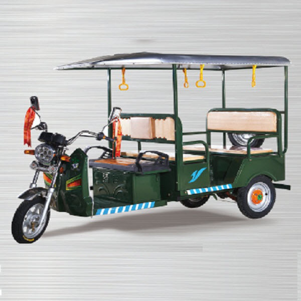 India double drum brake open body e rickshaw for passenger