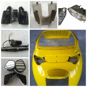 front face qs-a spare part head light LED