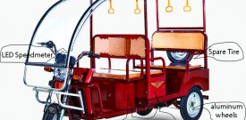 ICAT apporve electric tricycle/e rickshaw/tuk tuk
